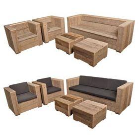Banco jardin madera reciclada almacen5 10 madera for Sillones de madera reciclada