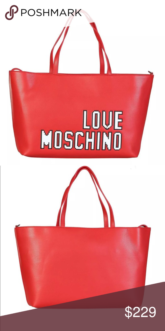 9bb43542b7a34 Love Moschino Red Tote Handbag Collection Spring Summer Gender Woman  Type Shopping