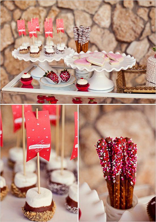 Mesa dulce para la fiesta de san valentin deco fiestas for Mesa para san valentin