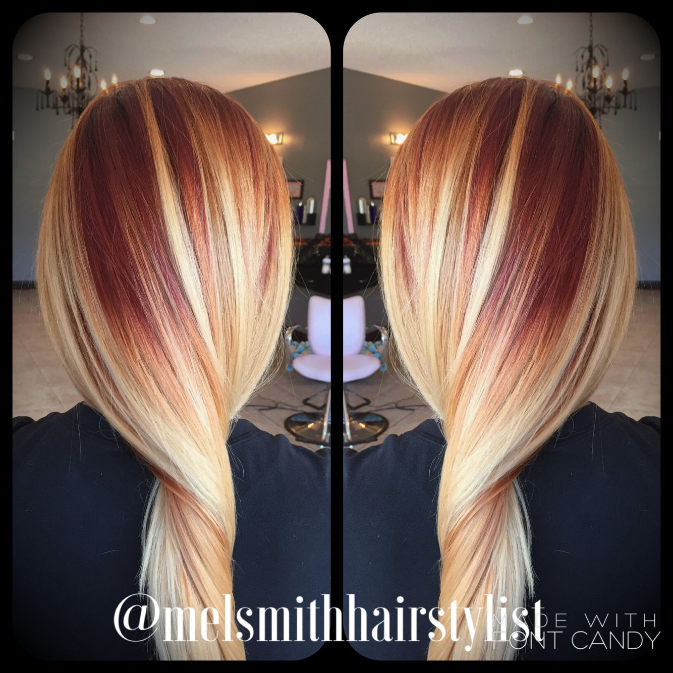 strawberry to blonde color melt melsmithhairstylist