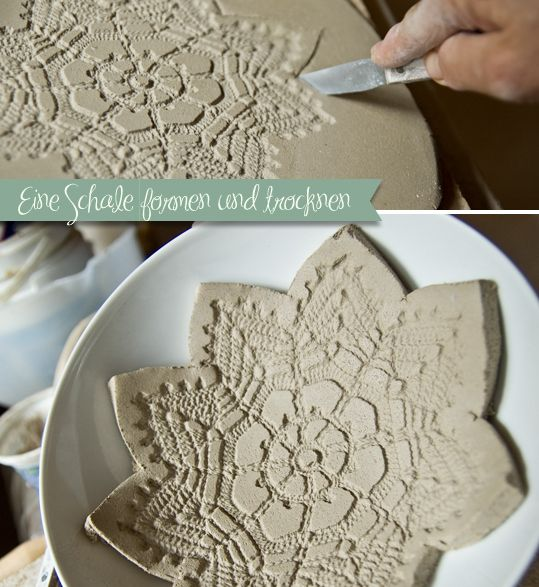 tonschale mit spitzen muster pottery t pfern ideen tonschale muster. Black Bedroom Furniture Sets. Home Design Ideas