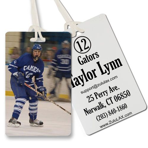 Custom Picture Hockey Bag Tag Hockey Bag Bag Tags Baseball Bag Tags