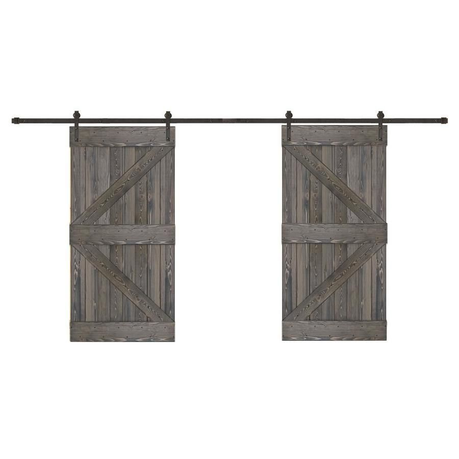 Creative Entryways Biparting Charcoal Stained K Frame Wood Pine
