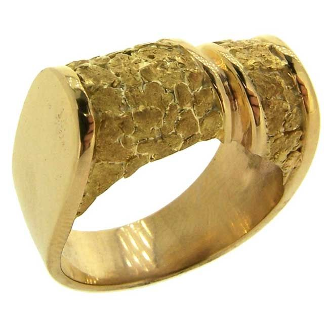Alaskan Gold Nugget Ring in Yellow Gold wwwgoldrushfinejewelry