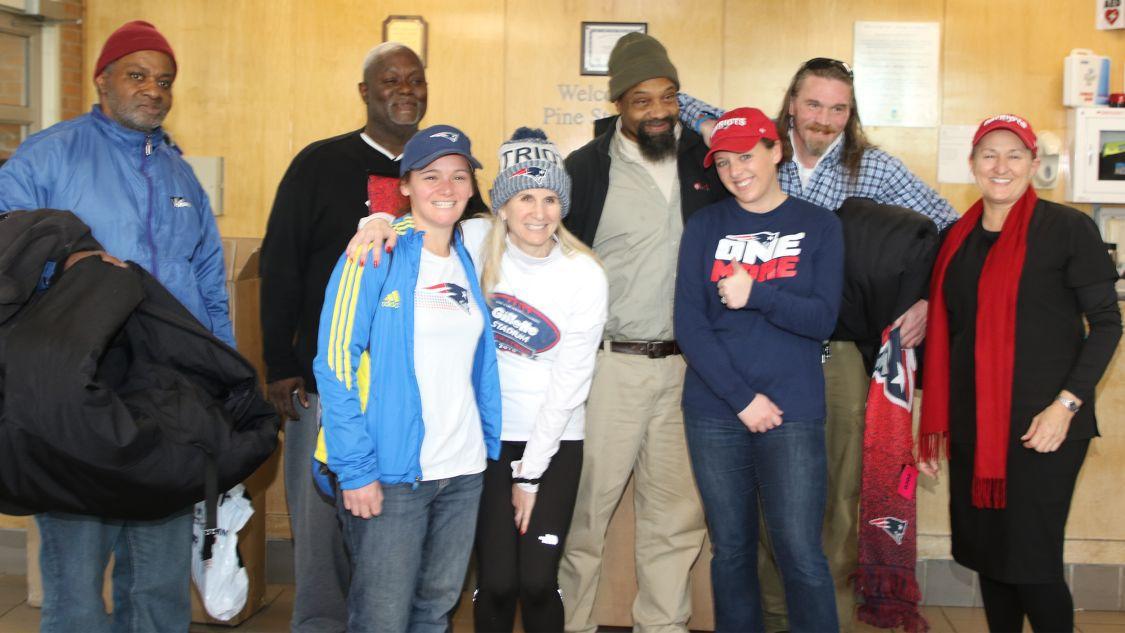 Patriots Donate Hundreds Of Empowerment Coats To A Dozen Homeless Shelter Programs Across New England Homeless Shelter Empowerment Homeless