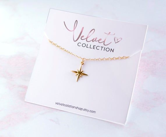 Photo of Simple Dainty Star Necklace, North Star Necklace Minimal Layering Jewelry, Gift for her, Necklaces f
