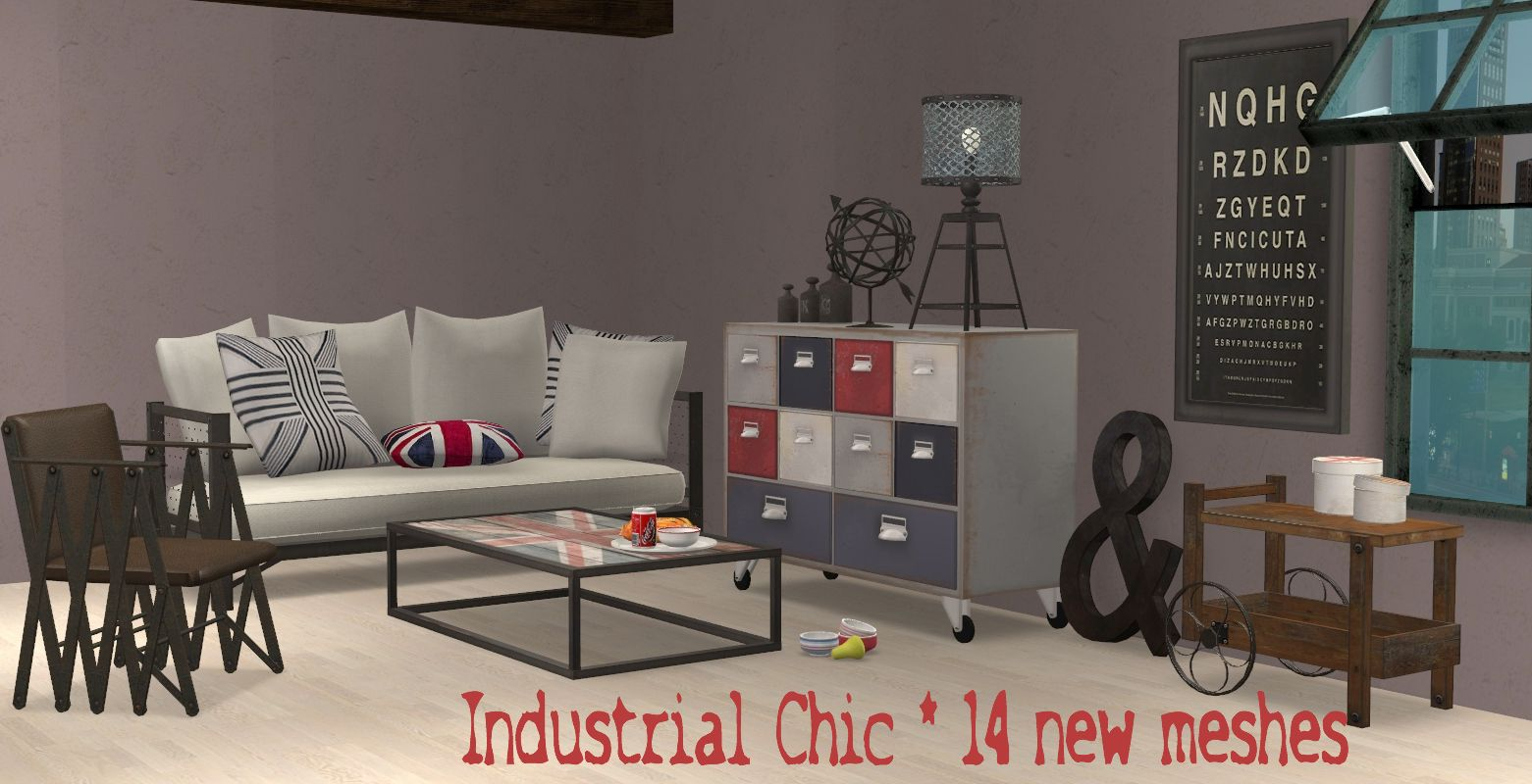 Industrial Chic Living Room For The Sims 2 (TS2) Part 33