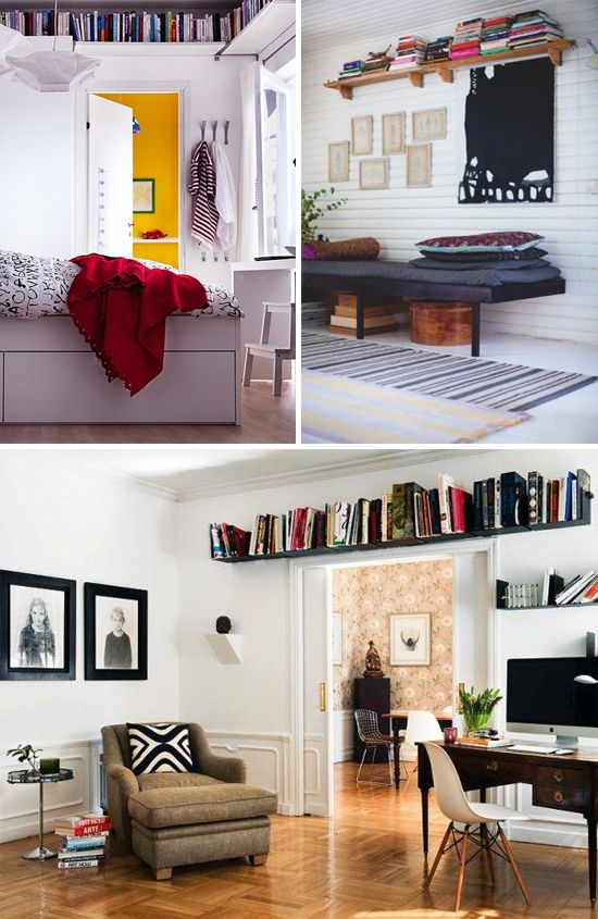 Vintage Living Room Ideas For Small Spaces: Trend To Try: Floating Shelves Mounted Close To The