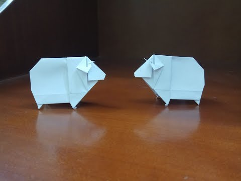 Photo of origami sheep – how to make a paper sheep