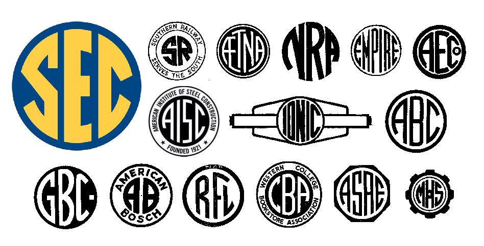 The Sec Succeeds With An Antimodern Logo Emblemetric Initials Logo Logos Circular Logo