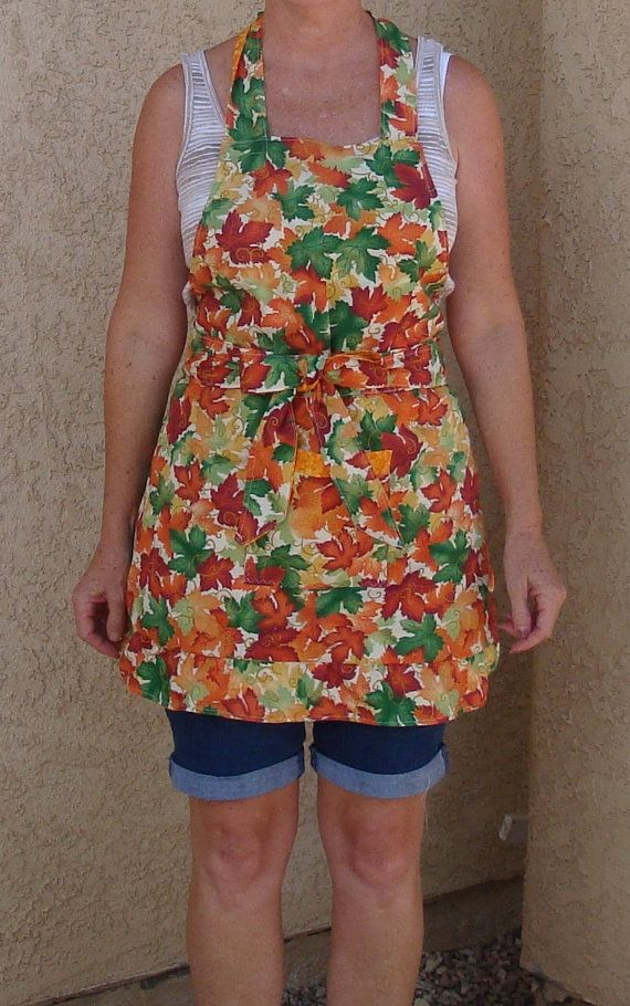 Autumn / Thanksgiving Kitchen Apron by HomeSewnKreations on Etsy