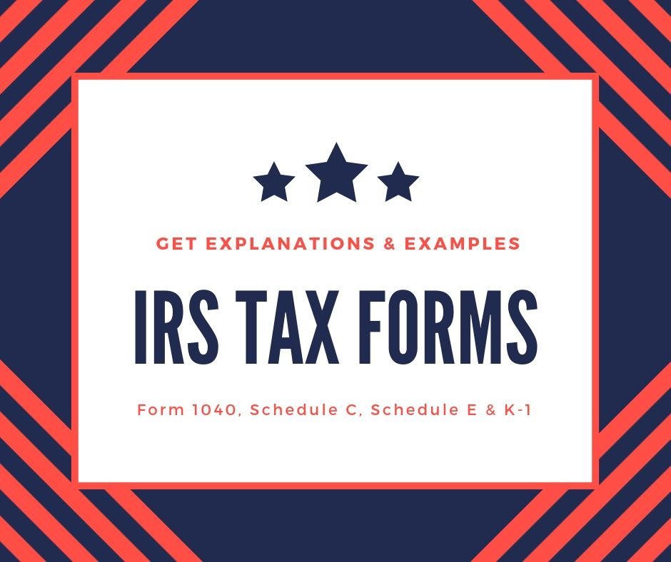 IRS Tax Forms | Form 9, Schedule C, Schedule E and K-9 ...