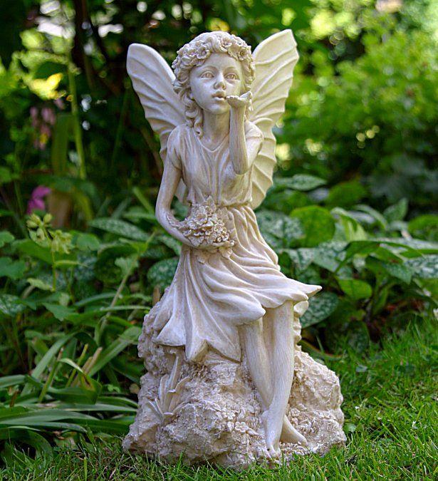 Sitting Fairy Garden Ornaments Fairy Garden Ornaments Garden Statues Fairy Garden
