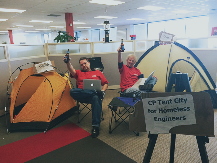We were rearranging our office space at the #Parallels