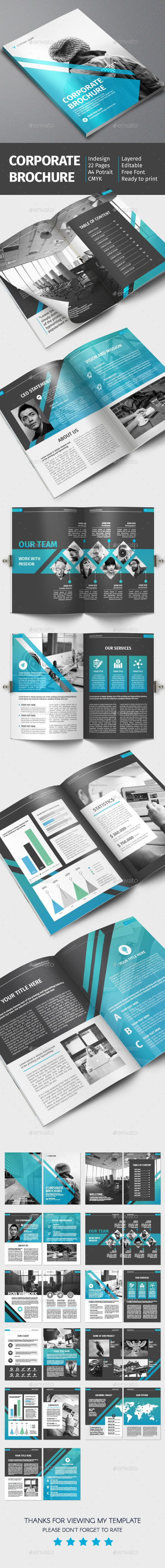 Corporate Brochure Template InDesign INDD. Download here: http ...