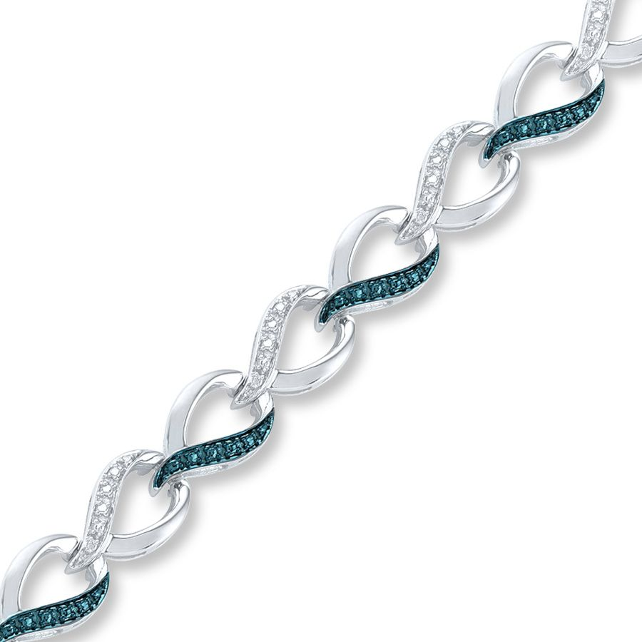Artistry Diamonds Blue/White Diamonds Sterling Silver Necklace 5AXiIxcP