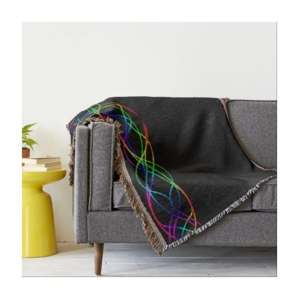Rainbow Lights Throw ($80) ❤ liked on Polyvore featuring home, bed & bath, bedding, blankets, rainbow blanket, rainbow throw and rainbow bedding
