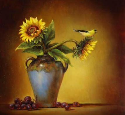 Dessin et peinture vid o 2001 le bouquet de fleurs au - Comment dessiner un tournesol ...