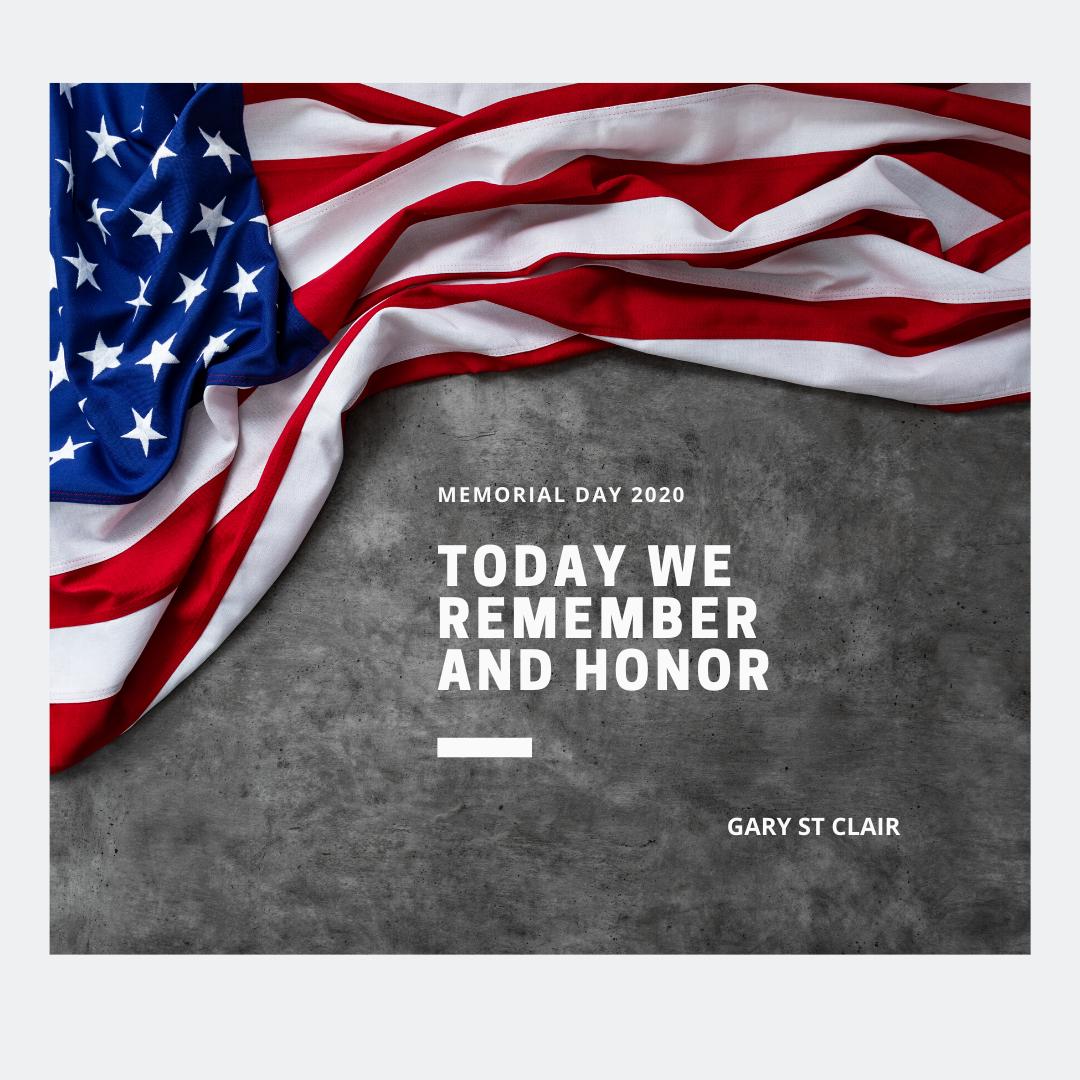 Today we remember and honor. Happy Memorial Day!  #MemorialDay #siliconvalley #siliconvalleyrealestatehub #garystclair