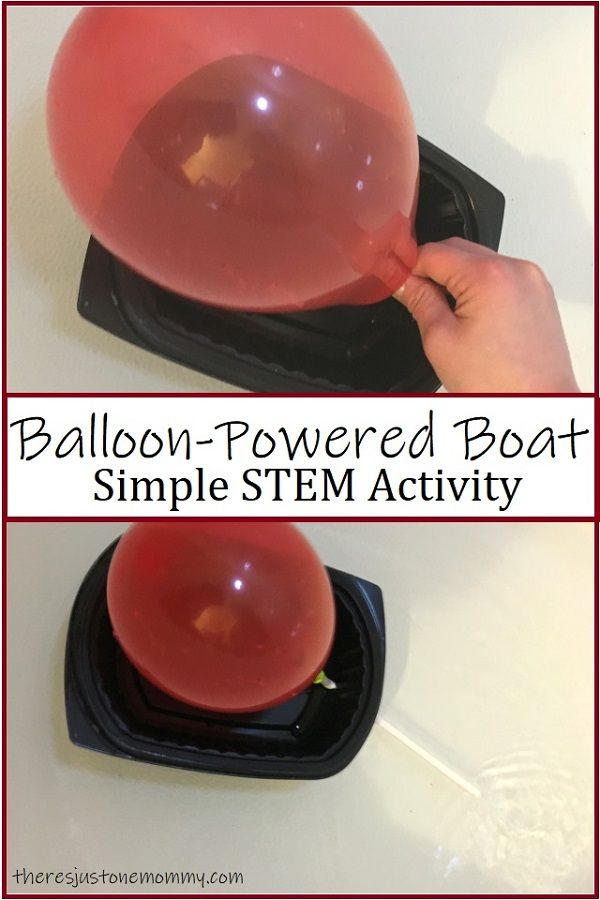 Simple Balloon Powered Boat STEM Challenge #stemactivitieselementary