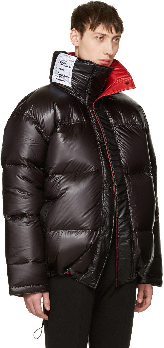 4669e4beddc09 Vetements - Reversible Black Down Canada Goose Edition Coat ...