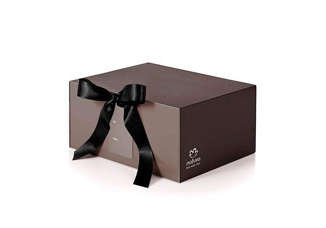 Embalagem de presente exclusiva para esta data especial. - Shop Embalagens. Linda Caixa de presente Natura