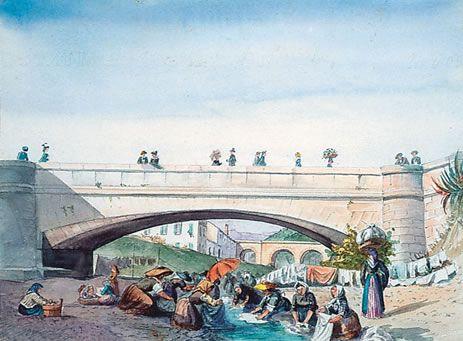 Lavandières au pont Magnan, Nice