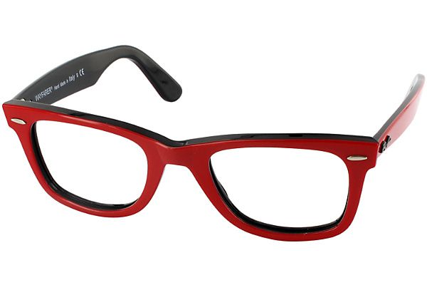 37fc7a594c2 Ray-Ban 2140 CL ( custom lens)   Top Red on Black