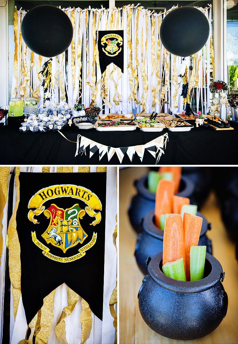 Modern & Magical Harry Potter Birthday Party | Harry potter, Harry ...