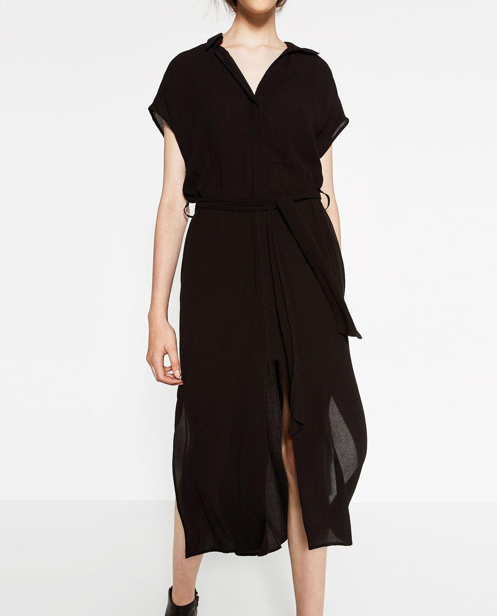 LONG TUNIC WITH SLITS-DRESSES-WOMAN | ZARA United States ...