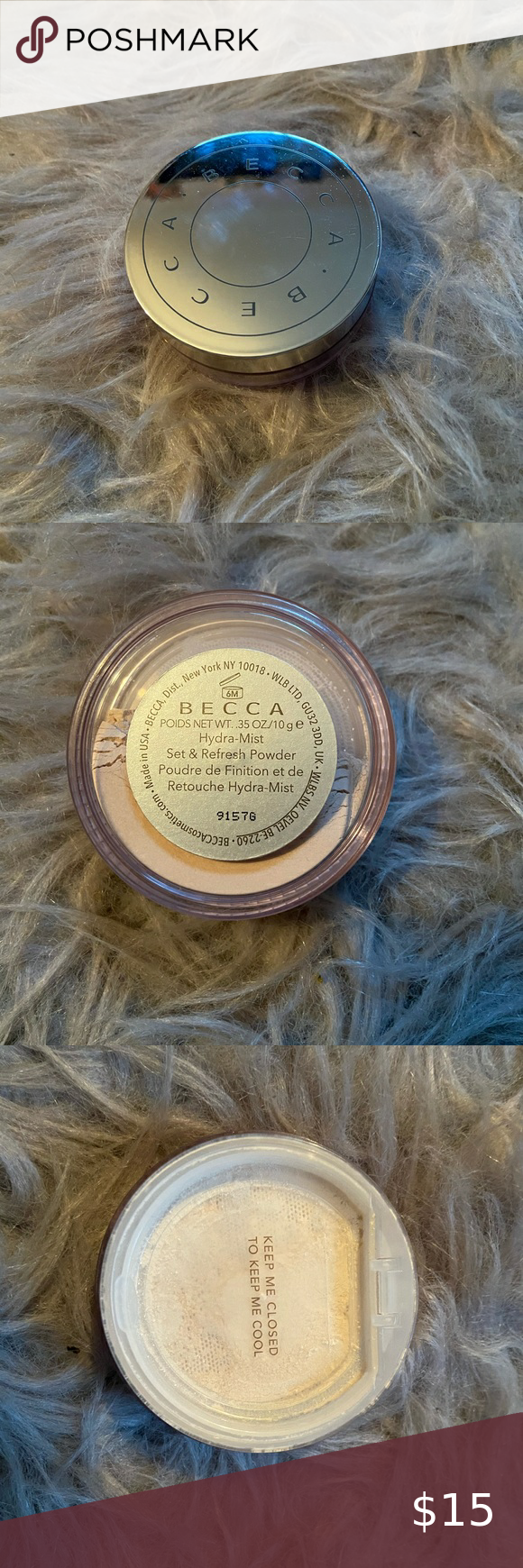 Becca Hydra Mist Set Refresh Powder Used Once It Actually Has A