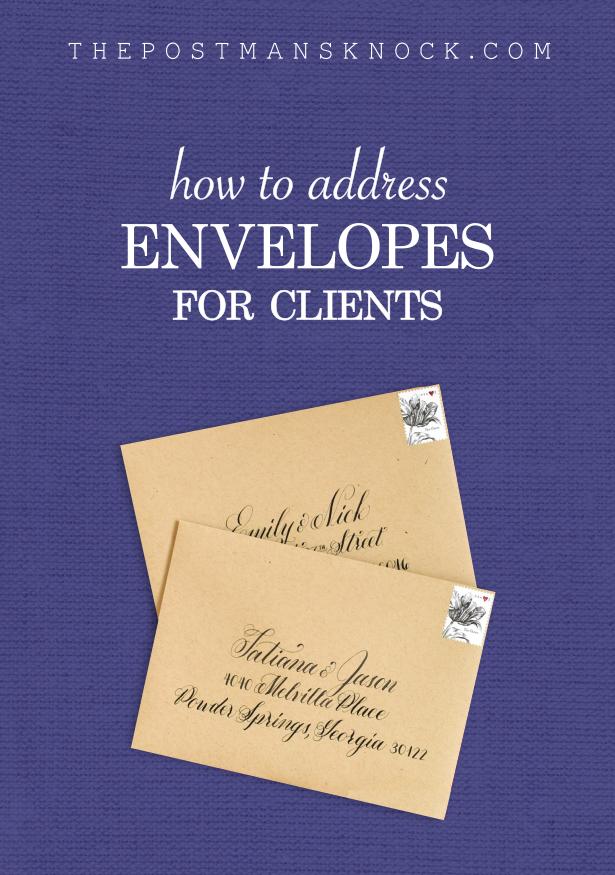 how to address envelopes for clients  addressing envelopes