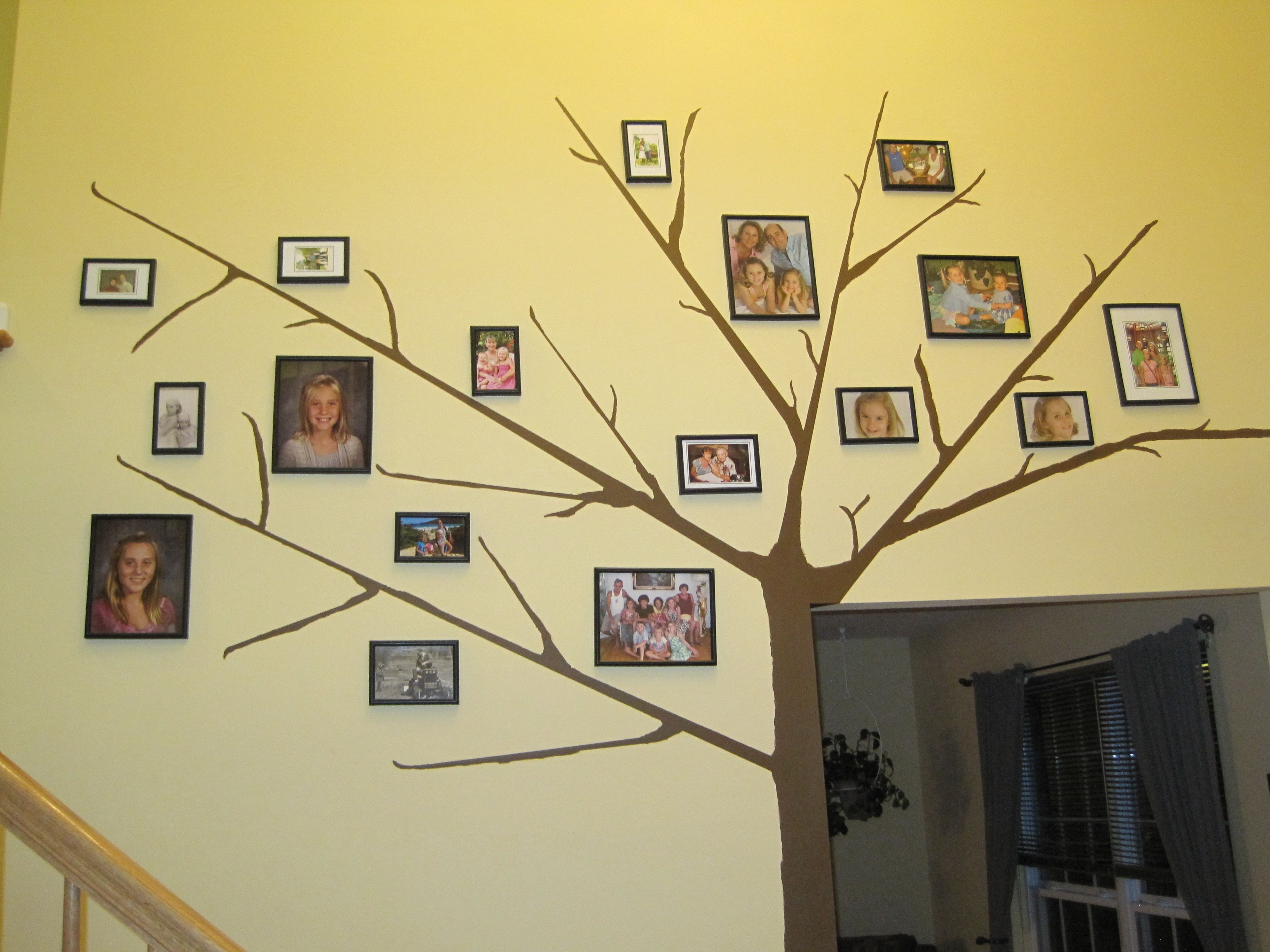 Painted a Family Tree on the wall | family tree ideas | Pinterest