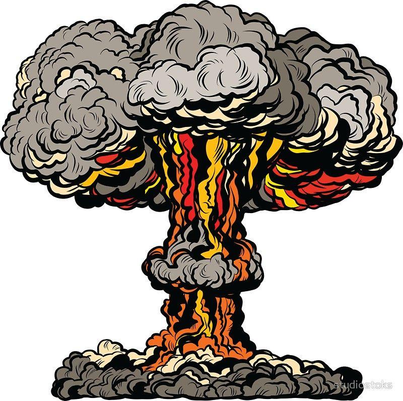 Nuclear Explosion Radioactive Mushroom Pop Art Sticker By Studiostoks In 2021 Nuclear Art Concert Poster Art Pop Art