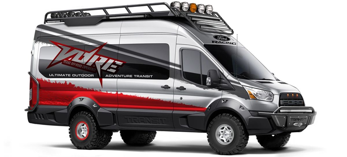 This Ford Raptor Style Transit Van Is The Ultimate Off Road People Mover Ford Transit Ford Transit Camper Transit Custom