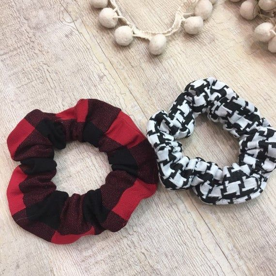 Buffalo Plaid Hair Scrunchie, Scrunchie Set, Scrunchie Pack, Scrunchie with Bow, Bow Scrunchie, Scrunchies for Women, Hair Scrunchies #hairscrunchie