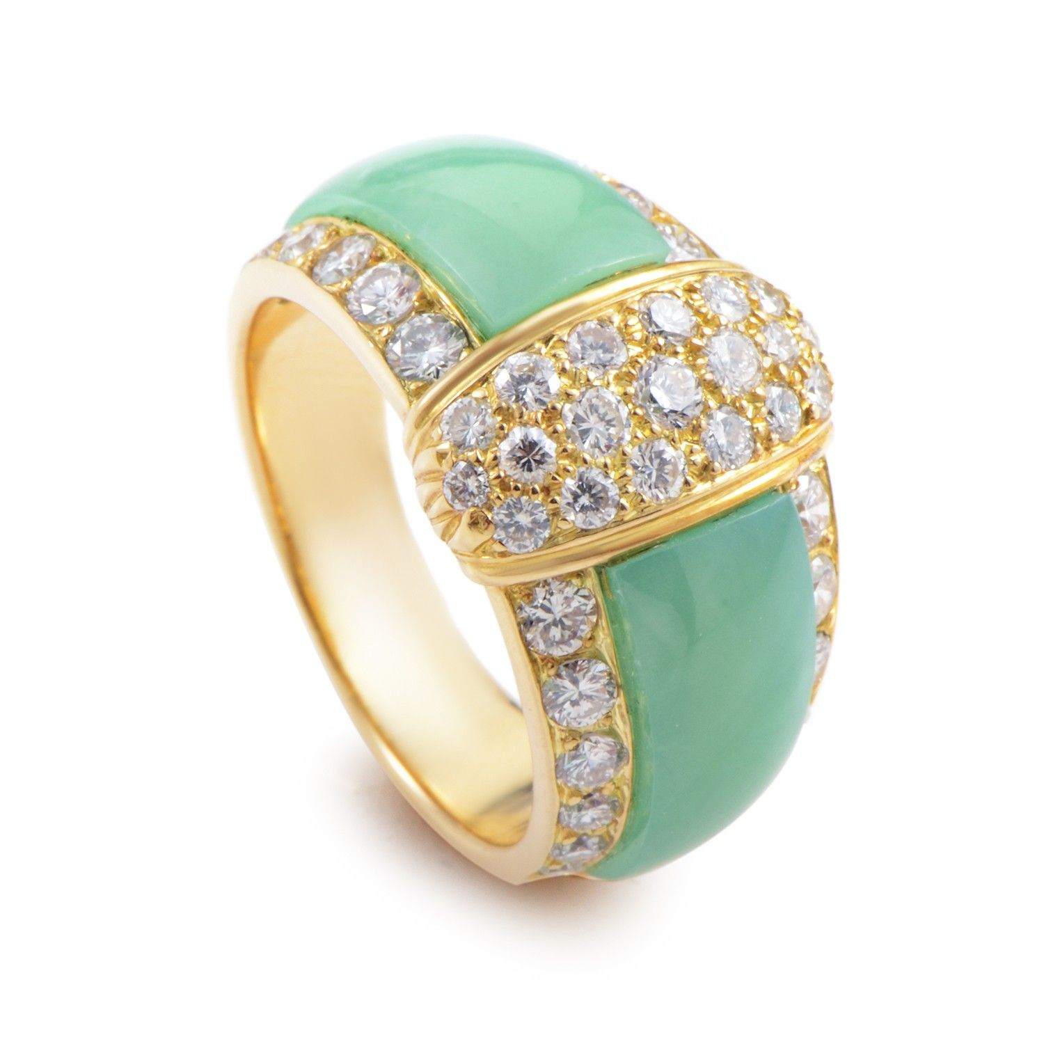 Van cleef amp arpels vca 18k yellow gold ruby cabochon amp diamond - Van Cleef And Arpels Van Cleef And Arpels 18k Yellow Gold Diamond And Chrysoprase Ring