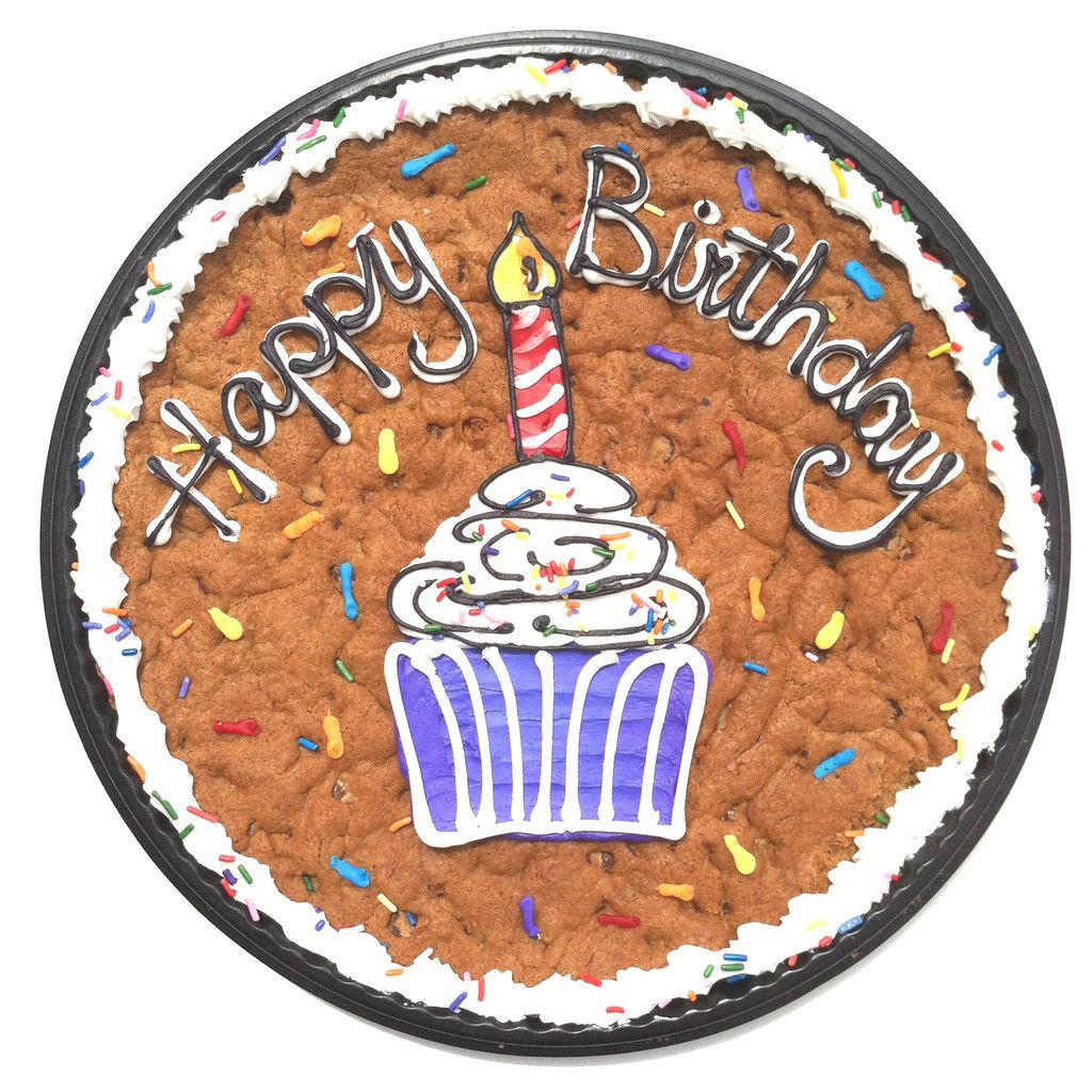 Birthday Cookie Cake with Cupcake design Recipes Pinterest