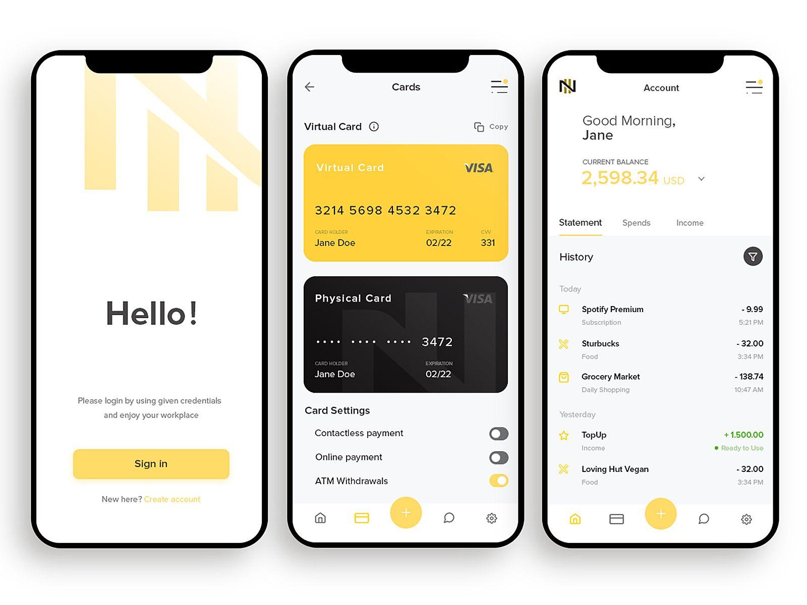 Nomad Smart Bank App Banking App Finance App Virtual Card