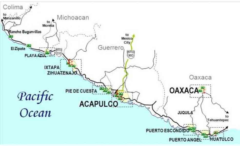 mexico pacific coast map Map Of Pacific Mexico Mexico Mexico Cruise Amazing Maps mexico pacific coast map