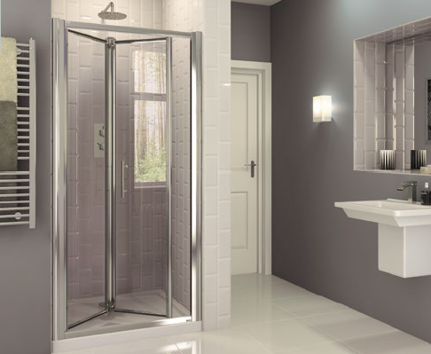Optima 6 Bi Fold Door Chrome Shower Enclosure Coram Showers Shower Enclosure Bifold Shower Door Shower Doors