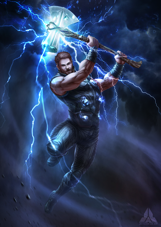 Avengers Infinity War Thor Marvel Fanart Thor Wallpaper Marvel Thor Thor Art
