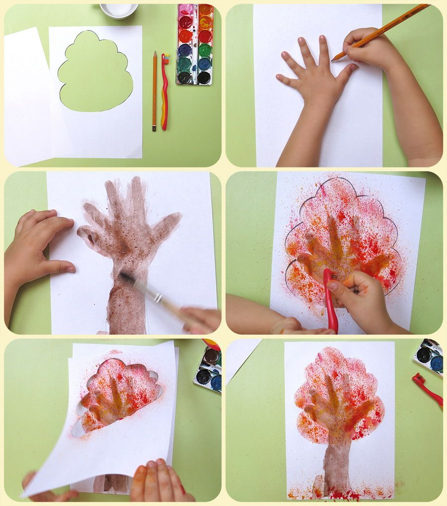 Fall colors activities for toddlers - Autumn Art Projects For Kids Toddlers Kids Fall Art Activities Sponge Painting Art Activities For Kids Paper Autumn Tree Art Ideas Fall Craft And