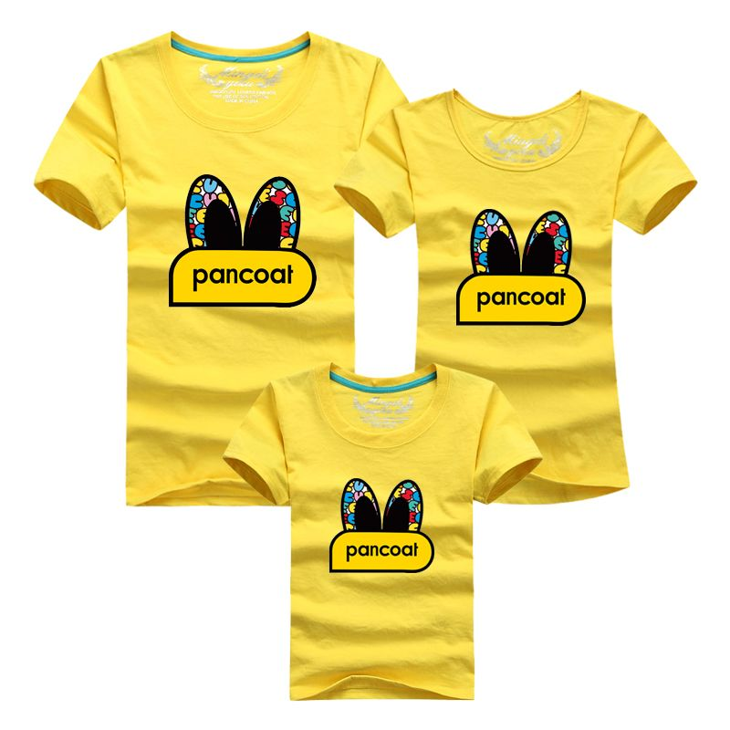 Ming Di Family Matching Clothing 2017 Father Son Suits Family Clothing Summer T-shirt Cotton Sweatshirt Duck Big Eyes Picture