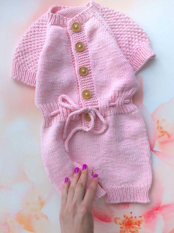 eae67e503 Infant Newborn Baby Boys Girls Jumpsuit Romper Bodysuit knitting ...