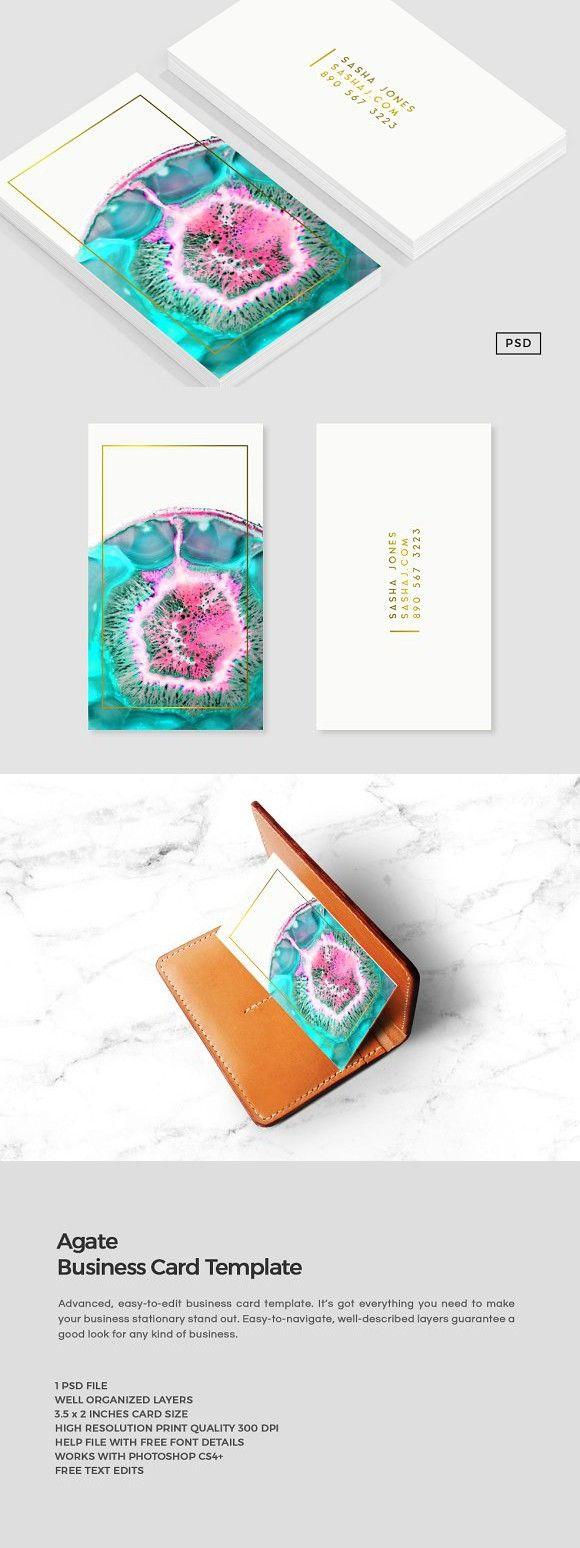 Agate Business Card Template Business Card Template Professional Business Cards Cards
