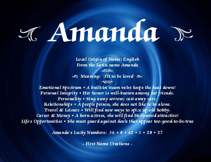 19++ Amanda meaning as a name ideas
