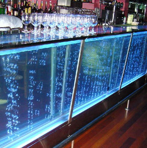 I love the bubbling water bar for the club bar my 40 39 s for Fish tank bar