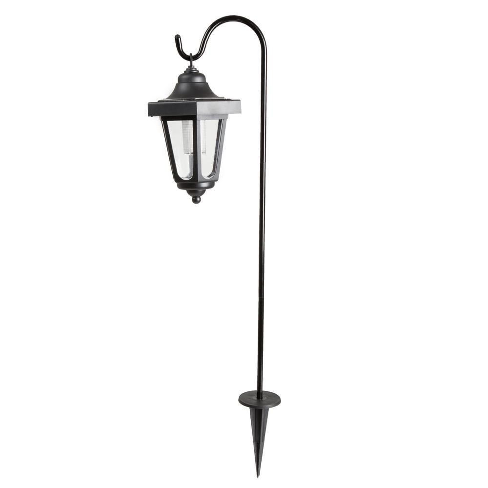 Pure Garden Solar Led Black Hanging Coach Lanterns 2 Pack M150035 The Home Depot Solar Hanging Lanterns Solar Lanterns Pure Garden