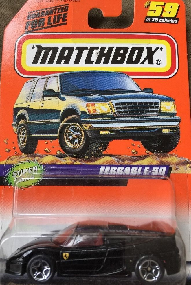 Matchbox Ferrari F 50 Black Car Super Cars Mattel Wheels Matchbox Ferrari Matchbox Matchbox Cars Cars Series